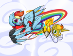 Commission- Dash and Sundrop by ZaneZandell