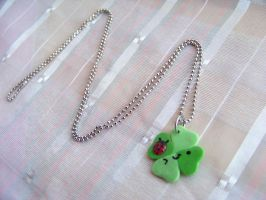 4 Leaf Clover Necklace by CuteTanpopo