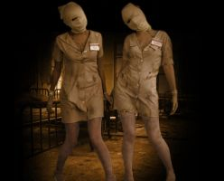 Silent Hill nurses by ZsiNor