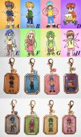 Digimon Zipper Pulls by AriesNamarie