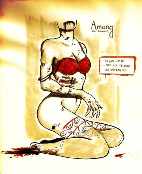 Among the Zombies - Lingerie Ad by redrabbit89