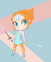 Pearl Spear and Sword Chibi by ddd09ish1