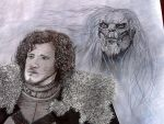 Jon Snow And The White Walker by LeeArt-Uk