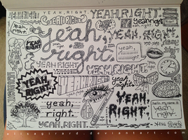Doodle: Yeah Right by alisagirard