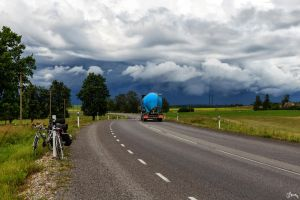 The Route 39 and Storm Clouds by Carnaga