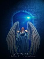 Blue light angel by JiaJenn31