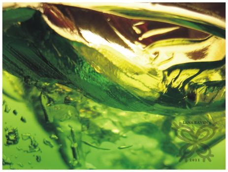Green Abstract 07 by LenaRaven