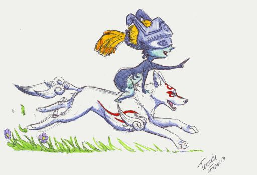 Ammy and Midna by Simatra