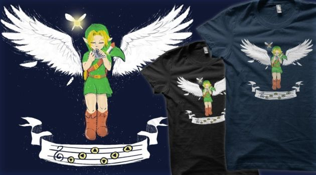 Song of Soaring design (Vote for it on Qwertee!) by TechraNova