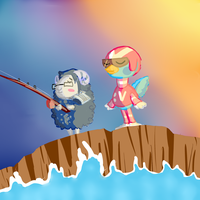 Fishing in the Breeze by ShinyStrawberry