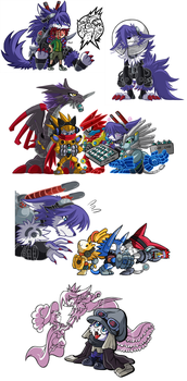Digimon Universe: Appli Monsters Artwork Pile! by SoftMonKeychains