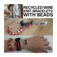 Recycled Wire Bracelets by papilia