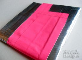 Pink and Silver Duct Tape Wallet by WildeMoon