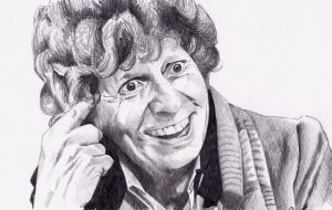 Tom Baker as Doctor Who by Kate-Murray