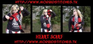 Heart Scarf- Prize by morbid-stitches