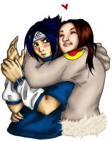 Sasuke and Vanessa by moved-to-dollgrownup