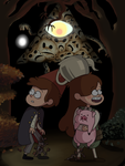 Over the Gravity Falls by azeixal