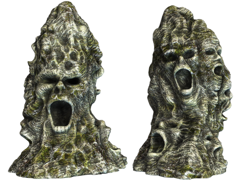 Spooky Stones 01 PNG Stock by Roy3D