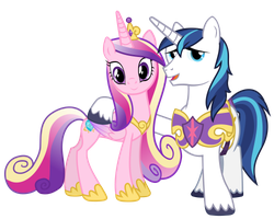 Princess Cadance and Shining Armour (Resources) by 90Sigma