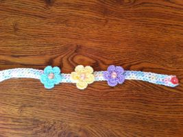 Baby soft crocheted flower headband by VashandNaomiForever