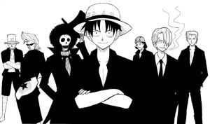 straw hat crew by ragecookie