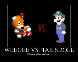 Weegee VS. Tailsdoll by TheFamousEccles