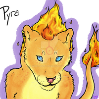 Pyra, The Fire Lioness by Wolf-mutt