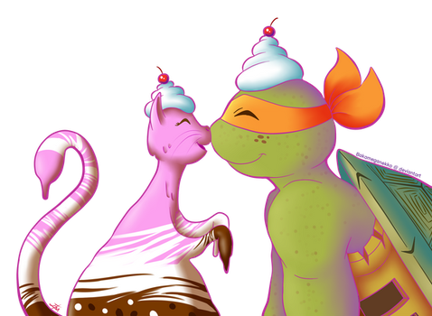 ~Mikey and Icecream Kitty~ by BakaMeganekko