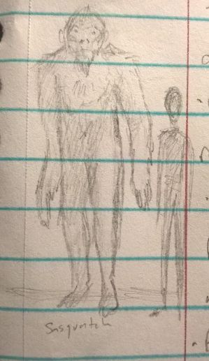 Doodle Sasquatch by CMIPalaeo