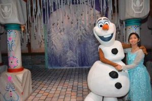 Olaf and I hug each other with winter love photo 3 by Magic-Kristina-KW