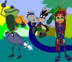 Teen Titans as Rayman 2 by Numbuh00