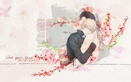KHR_Alaude and Cavallone yaoi wallpaper by lady-alucard