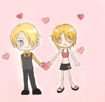 Sanji and Nami by i-eclipse