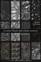 Granite black and white texture by Lyotta