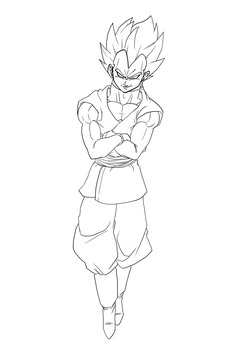 Vegeta Black by bloodsplach