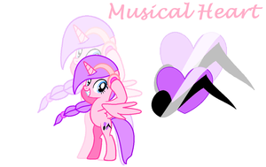 My oc : Musical Heart by PegasisterCorra08