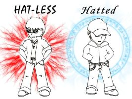 Hat-less vs. Hatted by Arcemise