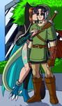 Jo and Xid cosplaying as Midna and Link by samusmmx