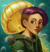 Girl and bubbles by ScandinavianLullaby