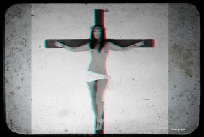 Anaglyph asian female Jesus by passionofagoddess