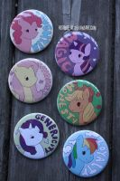 my little pony buttons by resubee
