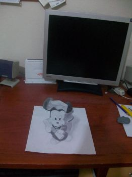 3D Art Drawing by vexilloid