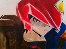 Yusei Fudo (Yu-Gi-Oh! 5DS) by TheGaboefects