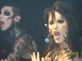 Andy Biersack and Ashley Purdy by A7XFan666