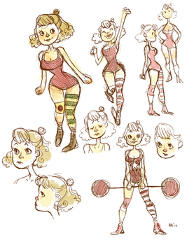 Strong-Girl sketches by hayoubi