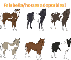 --OPEN-- ONLY 1 LEFT! Imports! Falabella/Horses. by AixaRawr