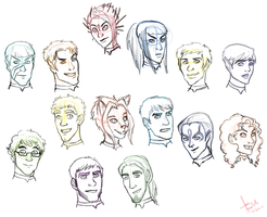 Legacy Crew Sketches by SinisterlySweet