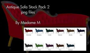 Antique sofa pack 1 by MadameM by Cutoutstock