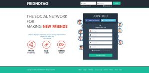 Social media Signup Page flat design by ahsanpervaiz