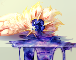Solgaleo: A Distressed Nose by Heenifer